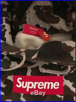 Supreme Box Logo Pullover Hoodie Duck Camo F/W 2012 Size Medium with Tag Sage