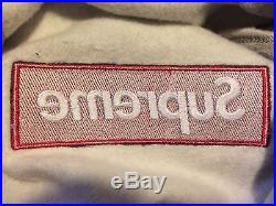 Supreme Box Logo Pullover Hoodie Grey Red Bogo Size Medium M Worn Once No Tags