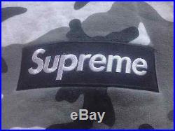 Supreme Box Logo Pullover Hoodie Snow Camo Size Medium M