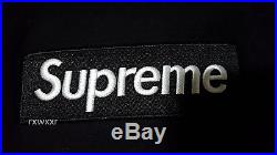 Supreme Box Logo Pullover Sweater Hoodie Black Medium M
