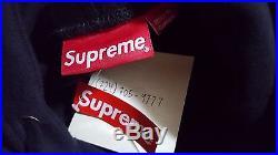 Supreme Box Logo Pullover Sweater Hoodie Black RARE