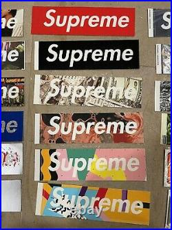 Supreme Box Logo Stickers Lot