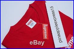Supreme Box Logo T Shirt Red 20th Anniversary SS14 NEW