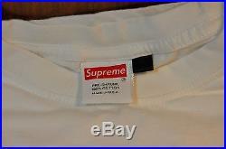 Supreme Box Logo Tee Navy White NY Yankees
