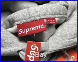Supreme Box Logo hoodie FW17 Heather Grey LARGE