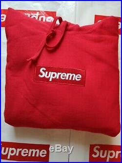 Supreme Box logo Hoodie Hooded Sweatshirt FW16 Red Size M