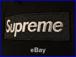 Supreme Box logo Pullover Hoodie Black Bogo Size Medium M Worn No Tags