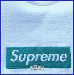 Supreme Box logo Teal/white crewneck medium rare