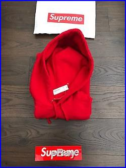 Supreme Box logo sleeve patch Hoodie SS17 Red Large SOLD OUT CDG AIR Lv X Louis