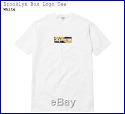 Supreme Brooklyn Box Logo Bogo Tee Size Medium M Ready to Ship