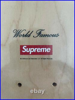 Supreme Bruce Lee Skateboard Deck FW13 NOS Rare New Box Logo In Plastic Wrap