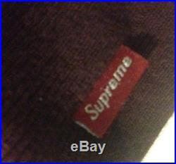 Supreme Burgundy Box Logo