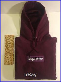 Supreme Burgundy Box Logo Hoodie