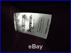 Supreme Burgundy Box Logo Size M Cdg Patchwork Undercover