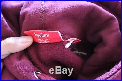 Supreme Burgundy Red Wine Box Logo Hoodie Size Medium F/W 2011