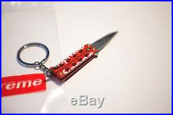 Supreme Butterfly Knife Box Logo CDG Kate Moss Keychain