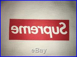 Supreme CDG Box Logo Hooded Sweatshirt Size L Harold Hunter Hoodie Red Black Tee