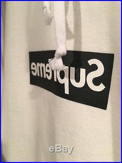 Supreme CDG Box Logo Hooded Sweatshirt Size Small Hoodie Red Black Tee Thrasher