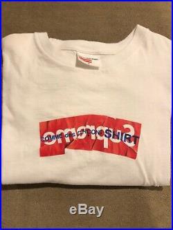 Supreme CDG Box Logo Tee White Size M 100% Authentic Rare Great Condition
