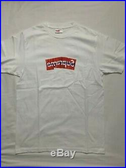 Supreme CDG Comme Des Garcons Shirt Box Logo Tee Size Small White SS17 New