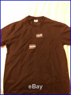 Supreme CDG Split Box Logo Black Tee Size XL 100% Authentic