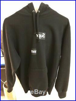 Supreme CDG Split Box Logo Hoodie FW18 Black (Medium)