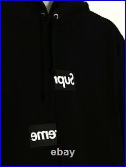 Supreme CDG Split Box Logo Hoodie FW18 Size L Black