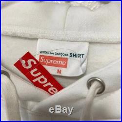 Supreme CDG Split Box Logo Hoodie (White)