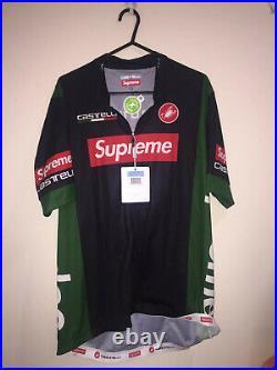 Supreme Castelli Cycling Jersey Black Box Logo Size M Brand New
