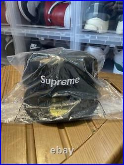 Supreme Champions Box Logo New Era Black 7 3/4 Fitted Hat SS21 NEW IN HAND