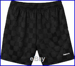 Supreme Checkered Soccer Short S Small Black Box Logo Gonz with back pocket