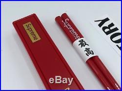Supreme Chopsticks New Red Box Logo Accessories Free US Shipping Sake Set FW17