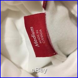 Supreme Classic Box Logo Bogo Hoodie Authentic White & Red Size Medium