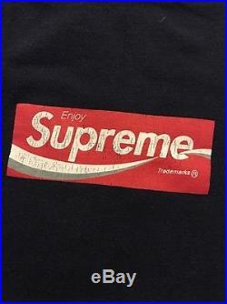 Supreme Coca Cola Vintage Red Box Logo Rare Tee Size Medium CDG