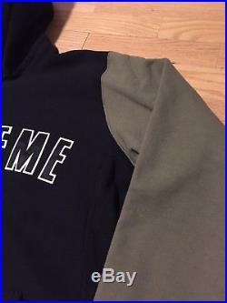 Supreme Colorblock Arc Box Logo Hoodie XL Burgundy Olive Camp Cap North Face