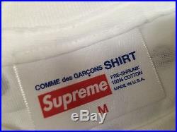 Supreme Comme Des Garçons Shirt Cdg White Box Logo Polka Dot Tee T-Shirt M Med