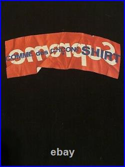 Supreme Comme Des Garcons CDG Box Logo Hoodie Black Size Medium SS17
