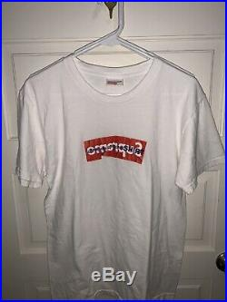 Supreme Comme Des Garcons CDG Shirt Box Logo Tee White SS17 Size Large Authentic