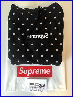 Supreme Comme des Garcons CDG Polka Dot Box Logo Hoodie Black SS12 Size Large