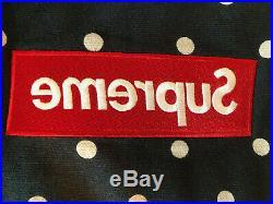 Supreme Comme des Garcons CDG Polka Dot Box Logo Hoodie Navy SS12 Size Large