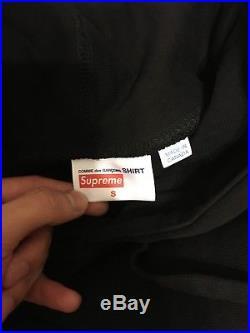 Supreme Comme des Garcons SHIRT CDG Box Logo Hooded Black Hoodie (Size S)