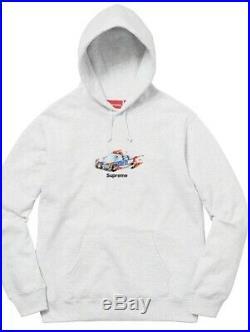 Supreme Cop Car Ash Grey Hooded Sweatshirt (Large) Box Logo Hoodie