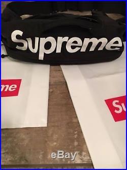 Supreme Cordura Box Logo Waist Bag Roo Fanny Pack SS17 In Black NEW Deadstock