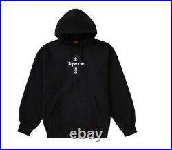 Supreme Cross Box Logo Hooded Sweatshirt Black XL Week 15 FW20