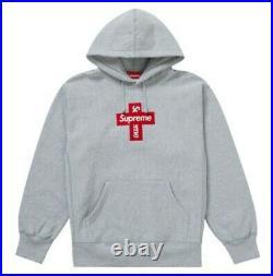 Supreme Cross Box Logo Hooded Sweatshirt Heather Grey XL Week 15 FW20