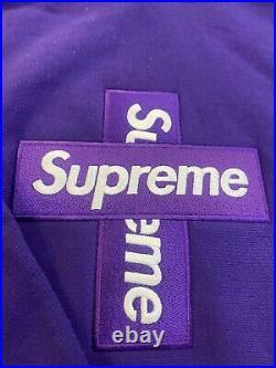 Supreme Cross Box Logo Hooded Sweatshirt Purple size XL