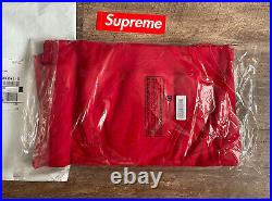 Supreme Cross Box Logo Hoodie Hooded Sweatshirt FW20 Red Size L Fast Ship