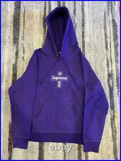Supreme Cross Box Logo Hoodie Purple Size Large Ships Next Day