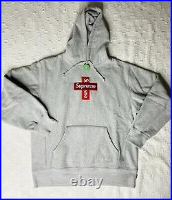 Supreme Cross box logo Hoodie Grey BOGO size m Authentic