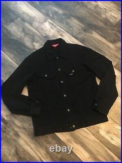 Supreme Denim Twill Trucker Jacket Coat Coach Trench Pullover Box Logo LV Small